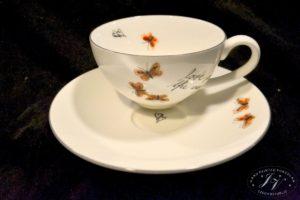 Čajový šálek Drobní červení Motýlci