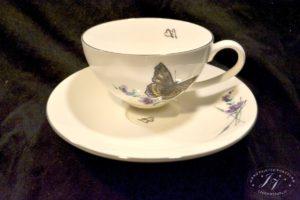 Čajový šálek Fialový Motýl