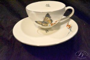 Čajový šálek Oranžový Motýl