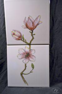 Dlaždice Květy Magnolie