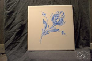 Dlaždice Modrý Květ