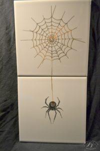 Dlaždice Pavouk V Síti