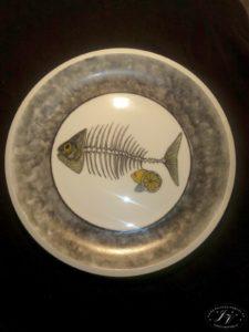 Jídelní Talíř Kostra Ryby
