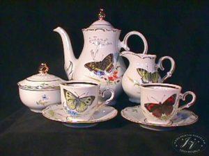 Kávový Servis Pro 6 Osob Motýli