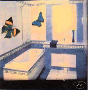 Návrh Koupelny Dlaždice Motýl M.