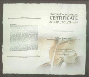 Certifikát Oxford
