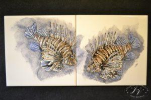 Dlaždice Ryby Perutýni