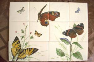 Keramický obklad s motýly