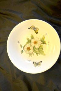 Mísa s květy + motýli